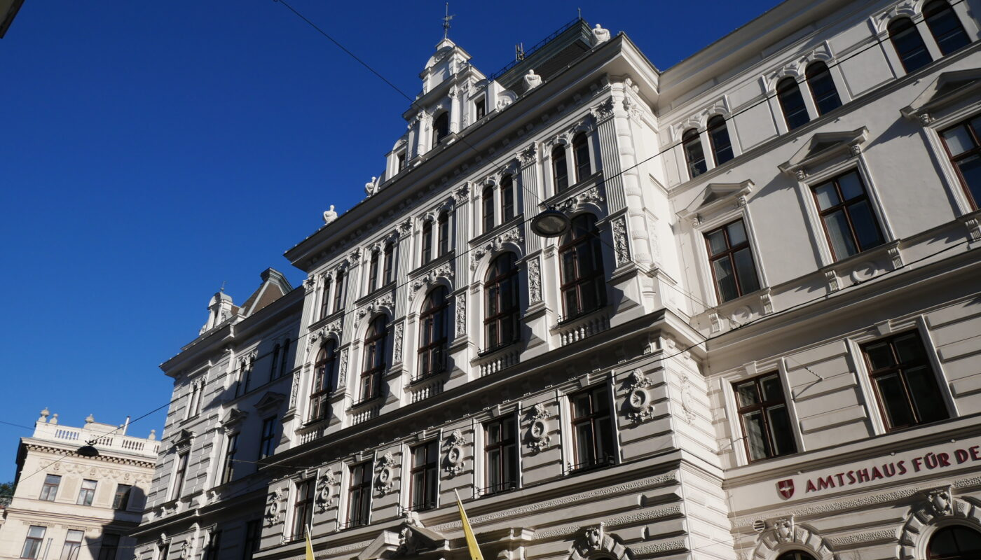 Fassade des Amtshauses zentral
