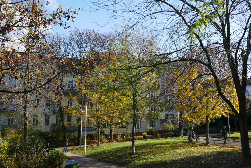 Schubertpark im Herbst
