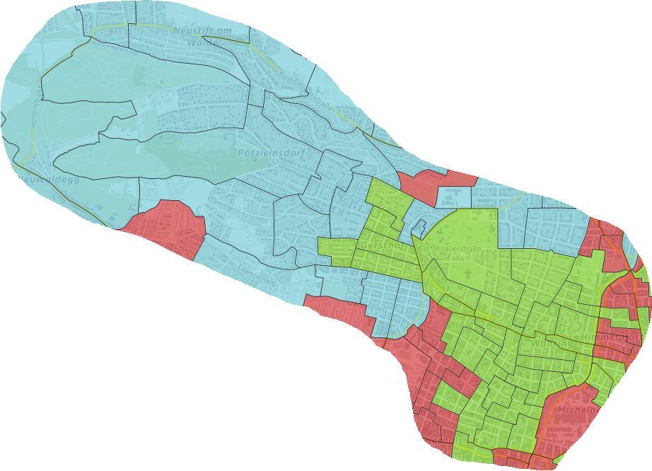 Das Wahlergebnis der Bezirksvertretungswahl 2020 auf Sprengelebene