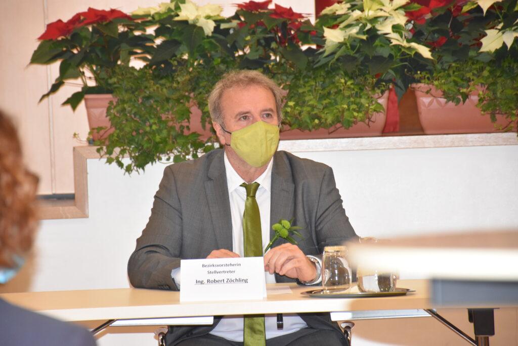Robert Zoechling mit Maske