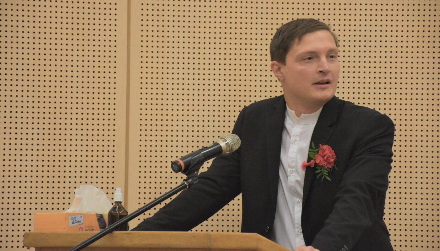 Michael Trinko bei der ersten Sitzung der Bezirksvertretung