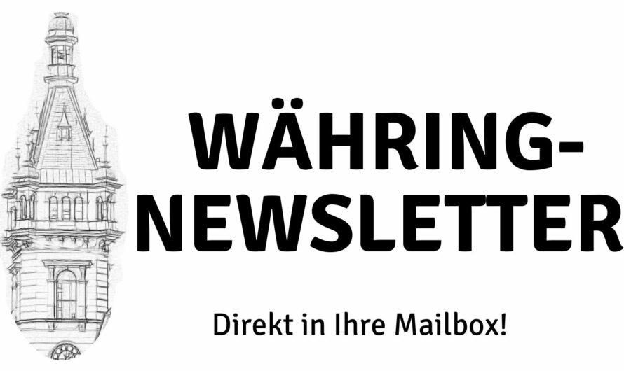 Nachrichten aus Währing in Ihre Mailbox