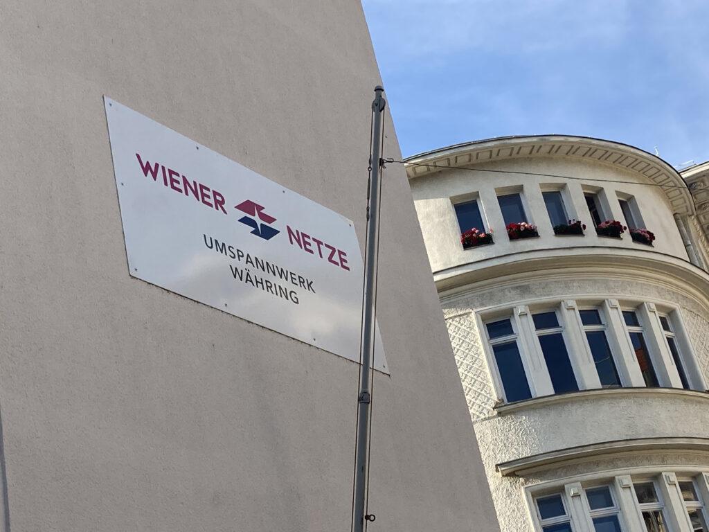 Schild Umspannwerk Klostergasse