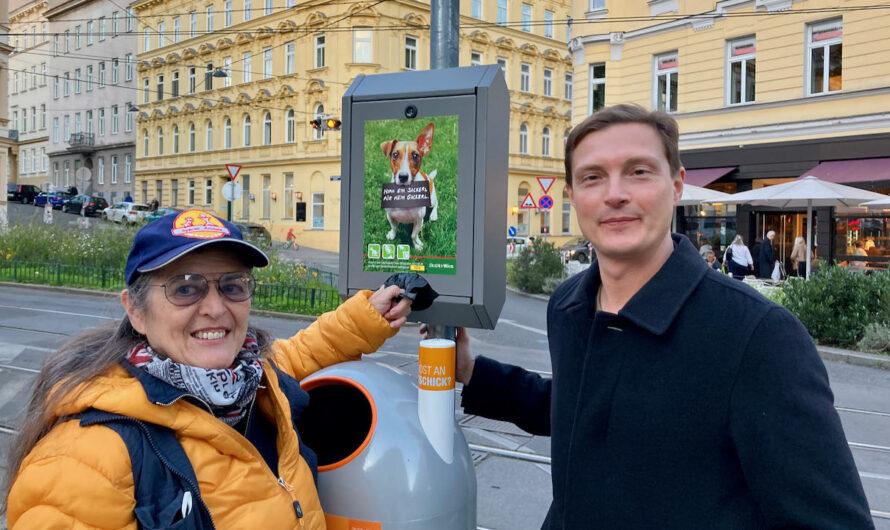 Fünf neue Gackerl-Sackerl-Spender bei der Währinger Straße