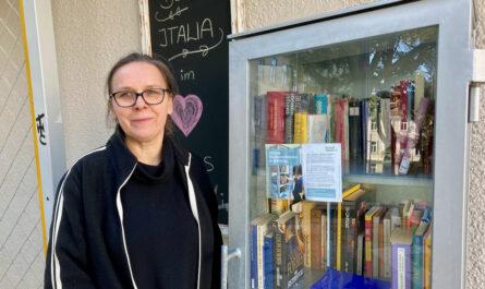 Bücherschrank Voglmarkt: Ute Griebaum