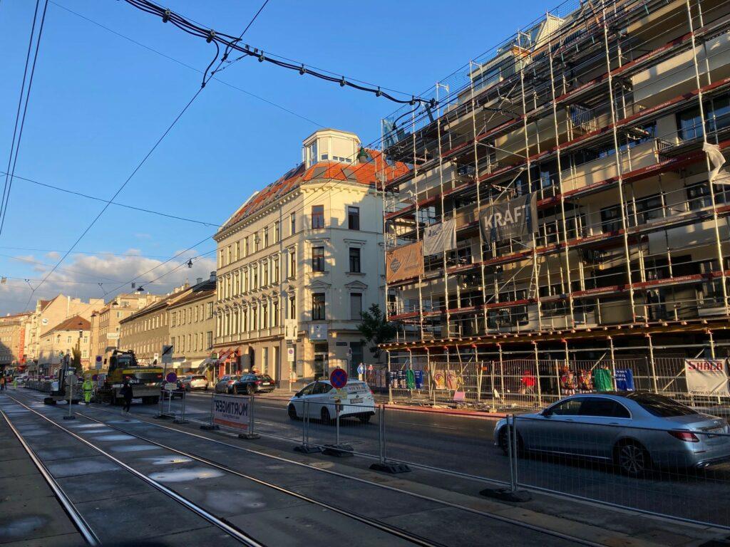 Jörgerstraße vor dem Umbau